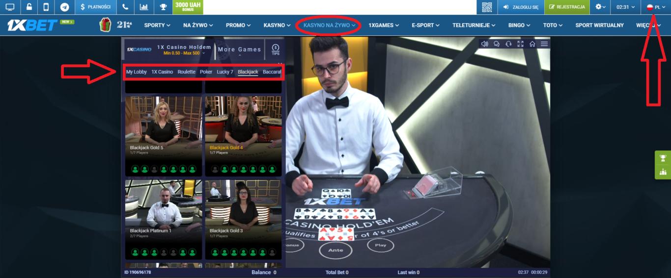 1xBet live: zakłady w trybie na żywo